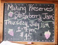 strawberry jam sign