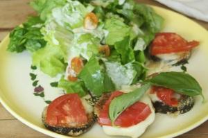 lucretia's fried eggplant napoleon