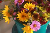 flower bouquets with echinacea pods